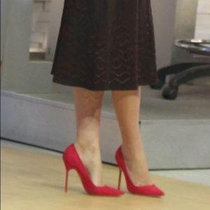 Manolo Blahnik BB 105mm pink suede pumps heels